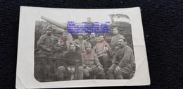 Cpp Guerre 1914.18 Canon Tranchée Infirmier Croix Rouge Soldats Du 123è RI Régiment D'Infanterie - Guerre 1914-18