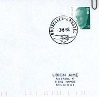 2473 (Baudouin Olyff 28F) Sur Lettre Avec Cachet De Prévente (voir Scans & Descr) - Postmark Collection