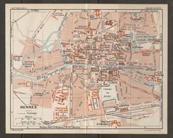 CARTE PLAN 1931 - RENNES - ARSENAL CASERNES USINE DES TRAMS ÉLECTRIQUES GARES DES TRAMS - Topographical Maps