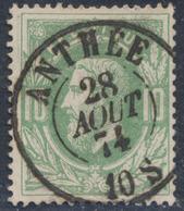 """émission 1869 - N°30 Obl Double Cercle """"Anthée"""". Superbe / Collection Spécialisée - 1869-1883 Leopold II."""