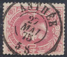 """émission 1869 - N°34 Obl Double Cercle """"Anthée"""". Superbe / Collection Spécialisée - 1869-1883 Leopold II."""