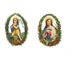 11619 - Lot De 2 Découpis Religieux, - Other