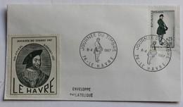 Enveloppe Philatélique Journée Du Timbre Le Havre 1967 Amiral Bonnivet - Postmark Collection (Covers)