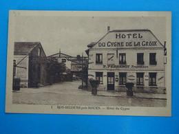 """76 ) Bon-secours N° 1 - Hotel Du Cygne De La Croix  """"  P. PERRENOT """" Année  : EDIT : Perrenot - Bonsecours"""