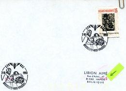 2527 (André Vésale) Sur Lettre Avec Cachet De Prévente (voir 2 Scans & Descr) - Postmark Collection