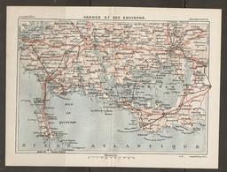 CARTE PLAN 1931 - BRETAGNE - VANNES Et Ses ENVIRONS - Topographical Maps