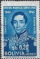 BOLIVIA 1966 Death Centenary Of Marshal Santa Cruz - 20c Marshal Santa Cruz FU - Bolivie