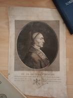 Paus Pius VII Joseph Hunin 1801/Pope Pius VII Joseph Hunin 1801 - Estampas & Grabados