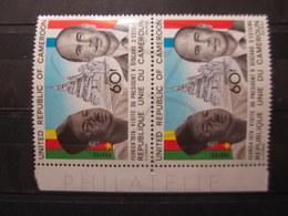 VEND BEAUX TIMBRES DU CAMEROUN N° 632 EN PAIRE + BDF , XX !!! - Cameroon (1960-...)