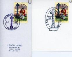 2600 (Bataille De Fontenoy) Sur Lettres Avec 2 Cachets DIFFERENTS De Prévente (voir 2 Scans & Descr) - Postmark Collection