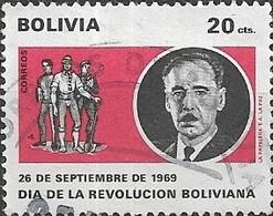 BOLIVIA 1970 Obligatory Tax. Revolution And National Day - 20c President A. Ovando And Revolutionaries FU - Bolivie