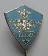 JNA,AIRFORCE MILITARY ACADEMY MARSAL TITO Aviation Airplane  Avion  JUGOSLAVENSKA ARMIJA YUGOSLAV ARMY PINS BADGES S - Militares
