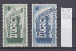 101K757 / 1956 - Michel Nr. 241-242 Used ( O )  CEPT EUROPA Stamps , Federal Republic Germany - 1956