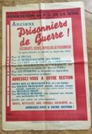 AFFICHE / FEDERATION NATIONALE DES COMBATTANTS PRISONNIERS DE GUERRE / PRISONNIERS DE GUERRE DE LA SEINE   N11 - Afiches