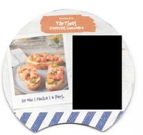 Étiquette Intérieure : Recette La Vache Qui Rit : Tartines Crevettes Concombre. (Voir Commentaires) - Quesos