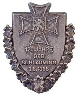 """Csehszlovákia 1986. """"120 Jahre ÓKB Schladming 1.6.1986"""" Fém Jelvény (35x45mm) T:2 Czechoslovakia 1986. """"120 Jahre ÓKB Sc - Coins & Banknotes"""