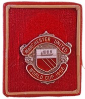 """Nagy-Britannia 1965. """"Manchester United - Világkupa 1966"""" Zománcozott, Jelzett Ag Jelvény Kis Tokban,  """"TAB"""" Gyártói Jel - Coins & Banknotes"""