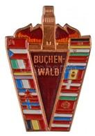 """NDK 1958. """"Buchenwald"""" Részben Zománcozott és Festett Fém Jelvény (43x29mm) T:1 GDR 1958. """"Buchenwald"""" Partially Enamell - Coins & Banknotes"""