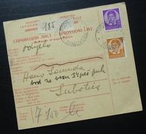 Yugoslavia 1938 Parcel Card From Podsused Zagreb Croatia To Subotica Serbia B1 - 1931-1941 Kingdom Of Yugoslavia