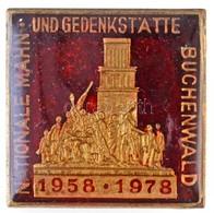 """NDK 1978. """"Nationale Mahn Und Gedenkstätte Buchenwald"""" Részben Zománcozott Fém Jelvény (25x25mm) T:1 GDR 1978. """"National - Coins & Banknotes"""