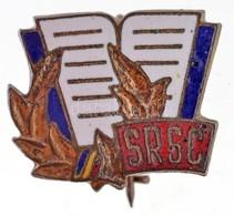 """Románia DN """"SRSC"""" Zománcozott Fém Jelvény (15x17mm) T:2 Romania ND """"SRSC"""" Enamelled Metal Badge (15x17mm) C:XF - Coins & Banknotes"""