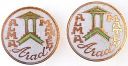 "Románia DN ""Arad - Alma Mater"" Zománcozott Aranyozott Jelvény (2x) (30mm) T:2 Romania ND ""Arad - Alma Mater"" Enamelled,  - Coins & Banknotes"