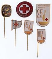 6 Db-os Zománcozott Jelvény Tétel Vöröskereszt, Véradás Témakörben T:2 - Coins & Banknotes