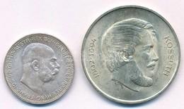 """Vegyes: Ausztria 1913. 1K Ag """"Ferenc József"""" + 1947. 5Ft Ag """"Kossuth"""" T:1-,2 Mixed: Austria 1913. 1 Corona Ag """"Franz Jos - Coins & Banknotes"""