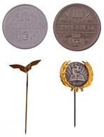 """4db-os Kitűző és Emlékérem Tétel, Közte """"MALÉV"""" és Aranykoszorús """"TIT"""" Kitűző T:1- - Coins & Banknotes"""