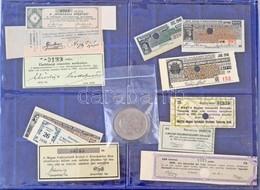 """Vegyes: 12db Szelvény Klf Részvényekhez, Közte 1902-1903. """"'Hungária Sörfőző"""" és Malátagyár Részvénytársaság Nagyváradon - Coins & Banknotes"""