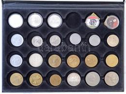 """23db-os Vegyes Magyar és Külföldi érme Tétel """"Moments Of Freedom"""" Tálcán, Ausztria 1976. 100Sch Ag """"Innsbruck - XII. Tél - Coins & Banknotes"""