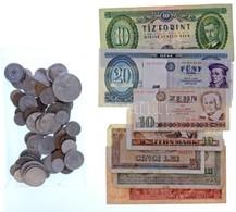 ~300g Magyar és Külföldi Fémpénz + 8db Vegyes Magyar és Külföldi Bankjegy T:vegyes ~300g Of Mixed Coins + 8pcs Of Mixed  - Coins & Banknotes