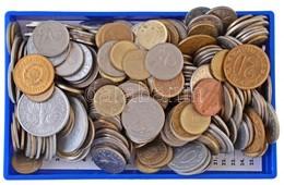 Vegyes Magyar és Külföldi Fémpénz Tétel ~800g-os Súlyban T:vegyes - Coins & Banknotes