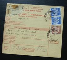 Yugoslavia 1938 Parcel Card From Strumica Macedonia To Subotica Serbia B2 - 1931-1941 Kingdom Of Yugoslavia