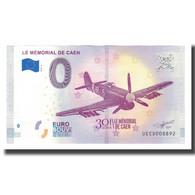 France, Billet Touristique - 0 Euro, 14/ Caen - Le Mémorial De Caen, 2018, NEUF - Frankrijk