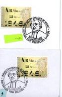 2664 (Armonaque Dé Mons) Sur Lettres & Feuillet Avec 3 Cachets DIFFERENTS De Prévente (voir 3 Scans & Descr) - Postmark Collection