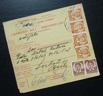 Yugoslavia 1938 Parcel Card From Odra Croatia To Subotica Serbia B4 - 1931-1941 Kingdom Of Yugoslavia