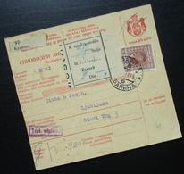 Yugoslavia 1931 Parcel Card From Krapina Croatia To Ljubljana Slovenia B5 - 1931-1941 Kingdom Of Yugoslavia
