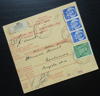 Yugoslavia 1936 Parcel Card From Ogulin To Karlovac Croatia B6 - 1931-1941 Kingdom Of Yugoslavia