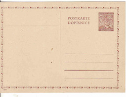 Bohmen Und Mähren 1941, Postkarte, Postal Stationery Card, Unused - Böhmen Und Mähren