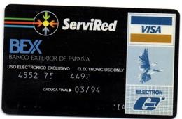 Old Bank Spain Credit Card BANCO EXTERIOR DE ESPAÑA Visa - Electron - Master Card - Tarjeta De Credito - Tarjetas De Crédito (caducidad Min 10 Años)