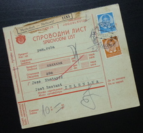Yugoslavia 1939 Parcel Card From Metkovic Croatia To Zelenika Montenegro B8 - 1931-1941 Kingdom Of Yugoslavia