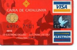 Bank Spain Credit Card CAIXA DE CATALUNYA Visa - Electron - Master Card - Tarjeta De Credito - Geldkarten (Ablauf Min. 10 Jahre)