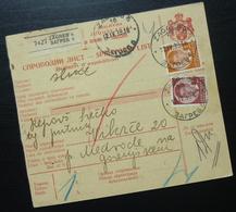 Yugoslavia 1939 Parcel Card From Zagreb Croatia To Medvode Slovenia B10 - 1931-1941 Kingdom Of Yugoslavia