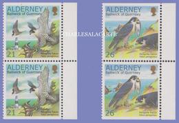 ALDERNEY AURIGNY 2000 W.W.F. PEREGRINE FALCONS  BOOKLET PAIRS  U.M.  N.S.C. - Alderney