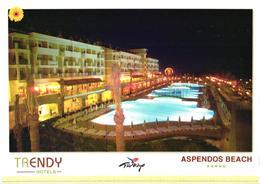 Turkey:Trendy Hotels, Aspendos Beach Hotel At Night - Hotels & Restaurants