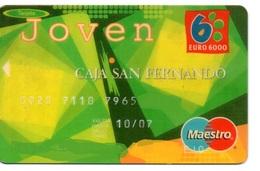 Bank Spain Credit Card CAJA SAN FERNANDO JOVEN Visa - Electron - Master Card - Tarjeta De Credito - Tarjetas De Crédito (caducidad Min 10 Años)