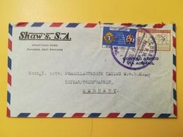 1961 BUSTA INTESTATA PANAMA BOLLO AIR MAIL ANNIVERSARY LIONS ANNULLO OBLITERE' PANAMA - Panama