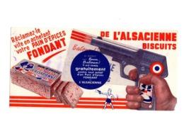 Buvard Pain D Epice Fondant Alscacienne Biscuits Pistolet Jouet - Gingerbread