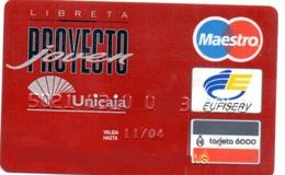 Bank Spain Credit Card UNICAJA PROYECTO JOVEN  Visa - Electron - Master Card - Tarjeta De Credito - Credit Cards (Exp. Date Min. 10 Years)